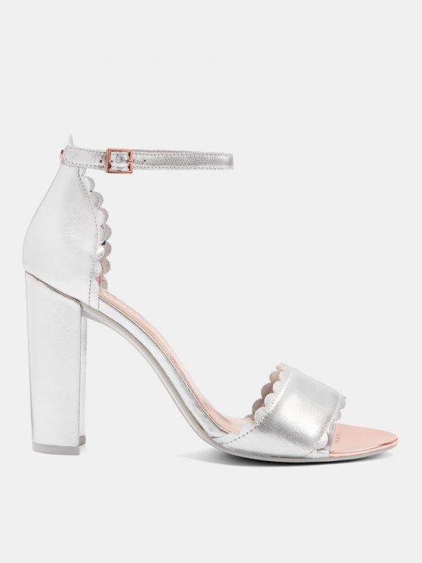 Ted Baker Silver Raidhal Scallop Detail Sandal