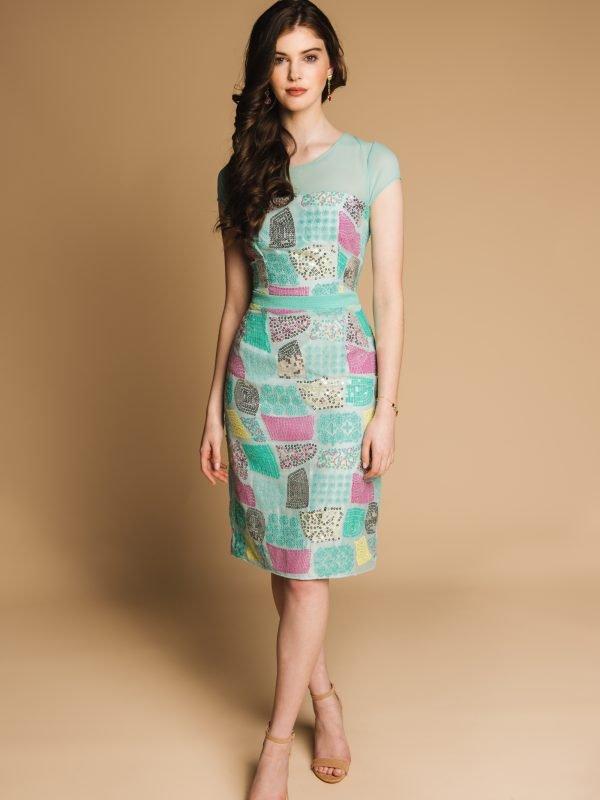 Charlotte Lucas Caroline Fitted Embellished Dress