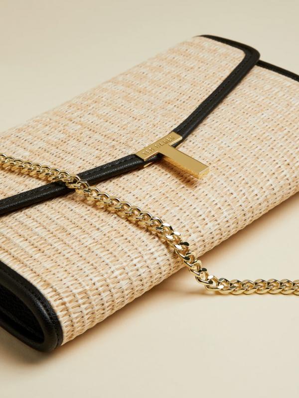 Ted Baker Arthea Straw Clutch Bag