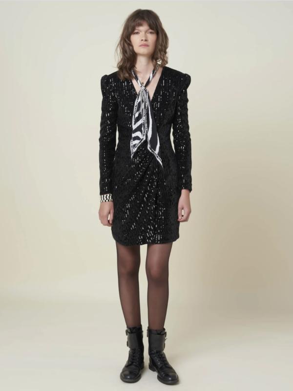 Silvian Heach Chained Black Sequin Dress