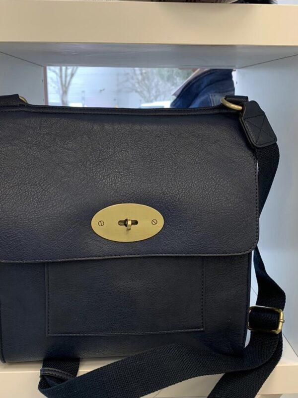 Kyla Faux Leather Grey Handbag