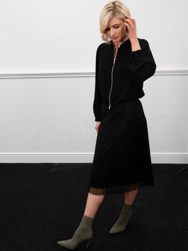 i Blues Mazurca Sequinned Skirt