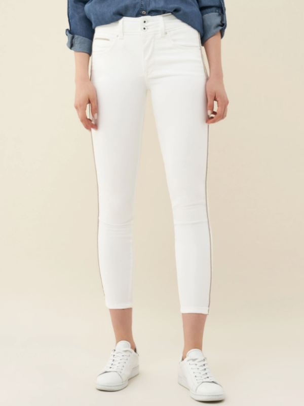 """Salsa High Waisted """"Push In"""" Jeans White"""