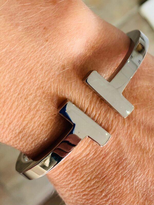 Corona Silver Tiffany Inspired Bracelet