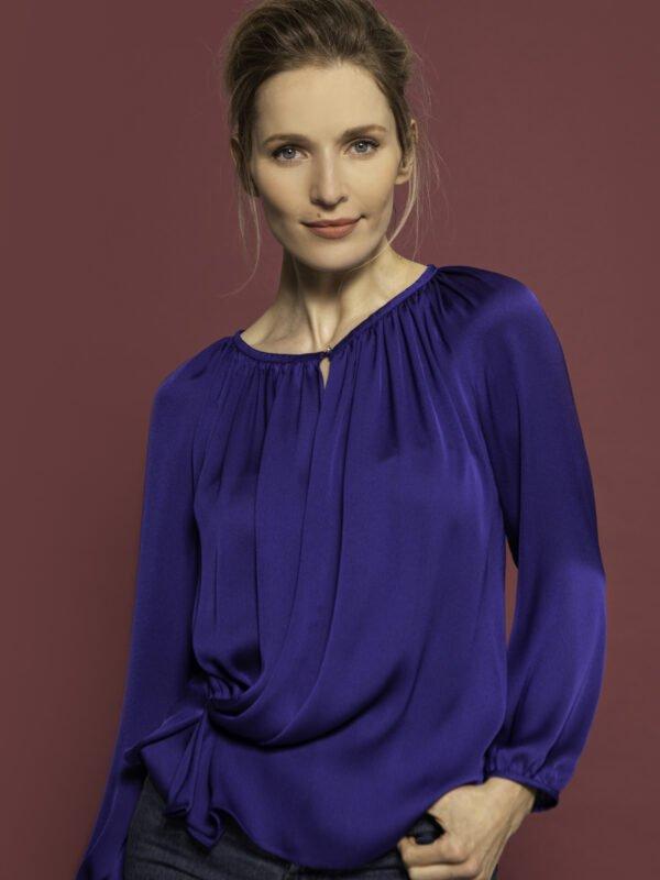 Caroline Kilkenny Lana Cobalt Blue Top
