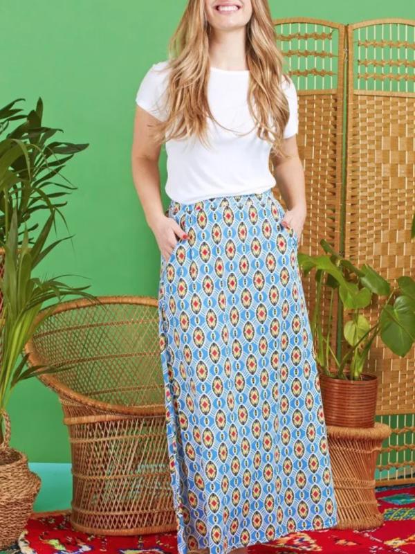 Onjenu Olivia Maxi Skirt In Freya Print