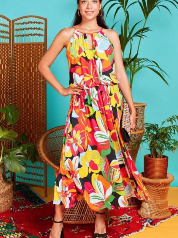 Onjenu Bianca Tropical Citrus Dress