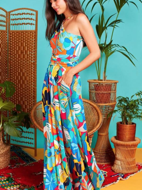 Onjenu Rosa Maxi Tropical Dress