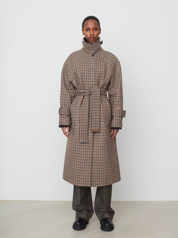 Day Birger & Mikkelsen Bogart Checked Wool Coat
