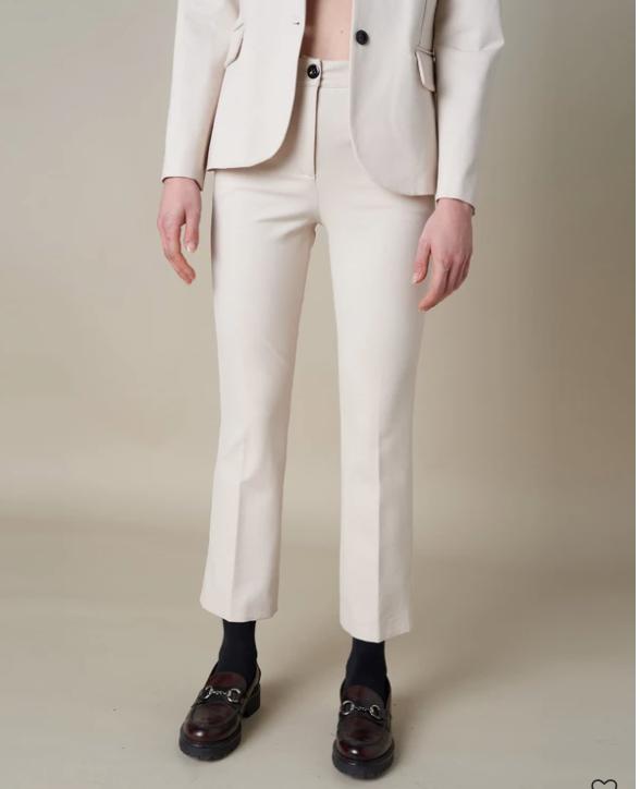 Silvian Heach Zabatt Cream Trousers