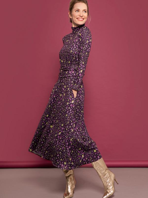 Caroline Kilkenny Teddy Dress Purple