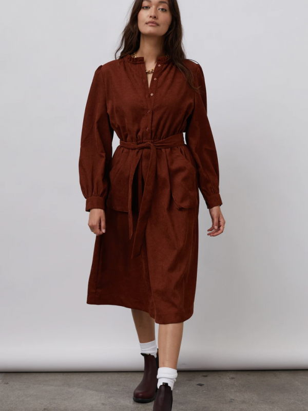 Lolly's Laundry Karlo Dress Rust