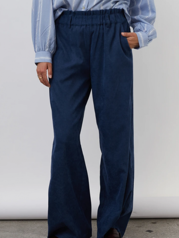 Lolly's Laundry Vickly Trousers Dark Blue