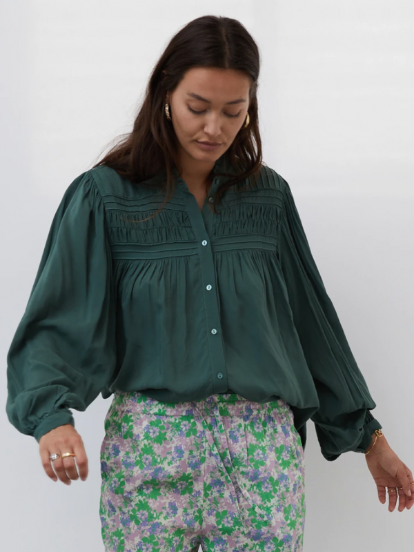 Lolly's Laundry Cara Shirt Dusty Green