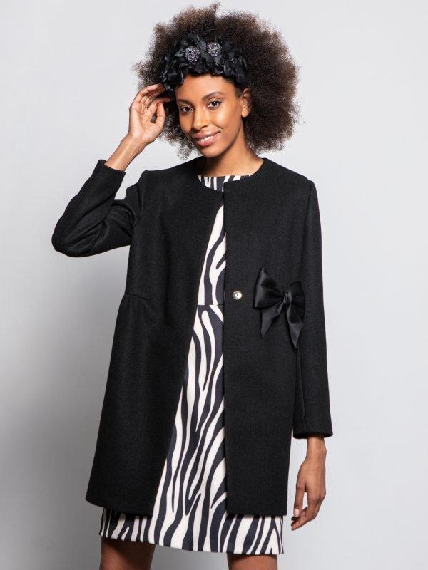 Caroline Kilkenny Sister's Tibet Black Coat