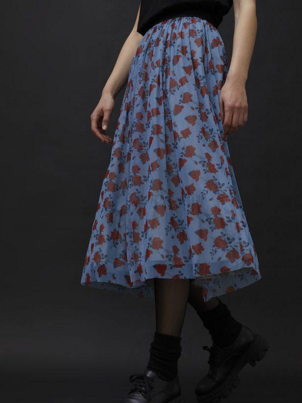 i Blues Geranio Pleated Skirt