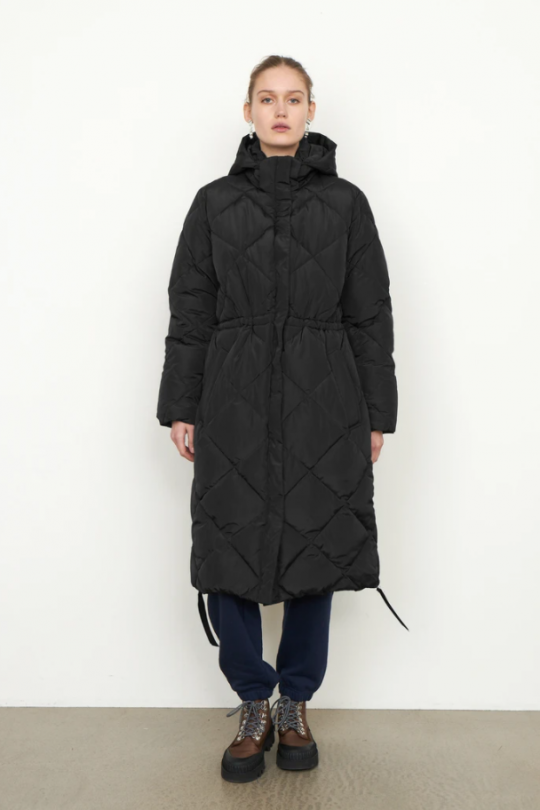 Second Female Buffie Black Quilted Coat