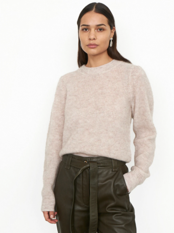 Second Female Brooky Knit Puff O Neck