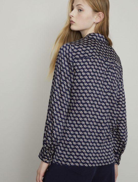 i Blues Stampa Printed Blouse