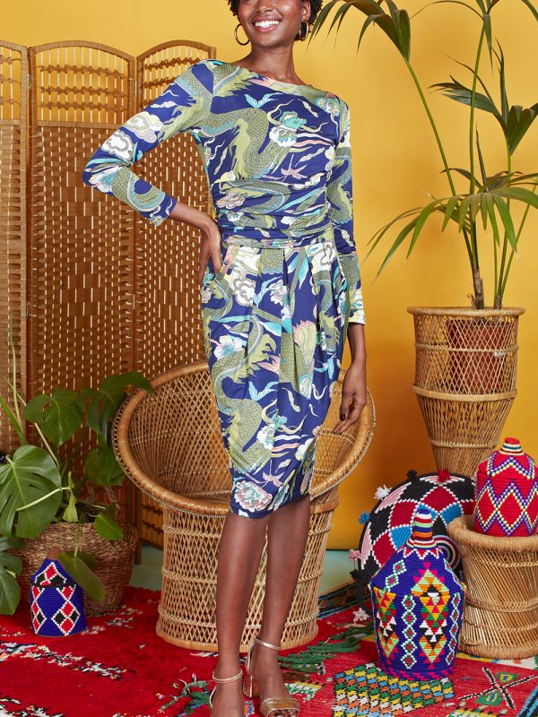 Onjenu Sydney Dragon Print Dress