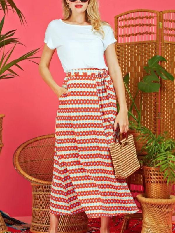 Onjenu Olivia Printed Maxi Skirt