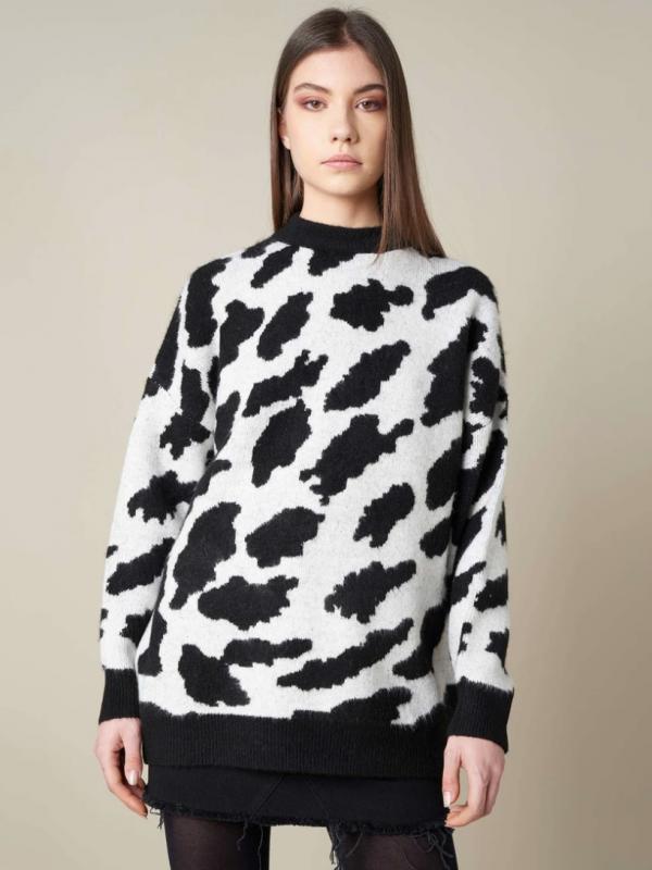 Silvian Heach Cow Print Jumper