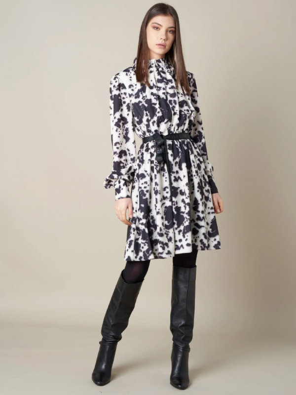 Silvian Heach Printed Monochrome Dress
