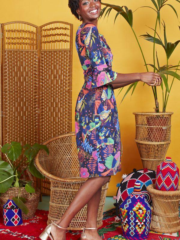 Onjenu Tammy Frida Print Dress